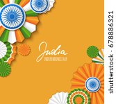 15th of august  india... | Shutterstock .eps vector #678886321
