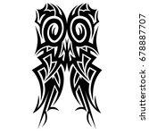 tattoo tribal vector design.... | Shutterstock .eps vector #678887707