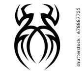 tattoo tribal vector design.... | Shutterstock .eps vector #678887725