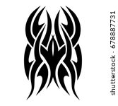 tattoo tribal vector design.... | Shutterstock .eps vector #678887731