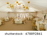 wedding reception marquee... | Shutterstock . vector #678892861