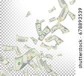 flying dollar banknotes vector. ... | Shutterstock .eps vector #678893539
