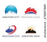 houston logo   city skyline...   Shutterstock .eps vector #678897889