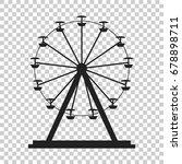 ferris wheel vector icon....   Shutterstock .eps vector #678898711