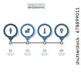 basic business infographics ... | Shutterstock .eps vector #678899011
