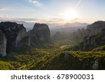 panoramic view greek monastery... | Shutterstock . vector #678900031