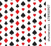 casino poker seamless pattern... | Shutterstock .eps vector #678900907
