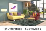interior living room. 3d... | Shutterstock . vector #678902851