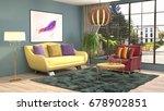 interior living room. 3d... | Shutterstock . vector #678902851