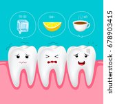 cute cartoon sensitive teeth... | Shutterstock .eps vector #678903415