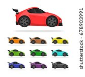 sport car set | Shutterstock .eps vector #678903991