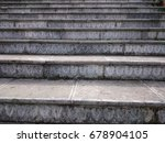 stone stair with carved grey... | Shutterstock . vector #678904105