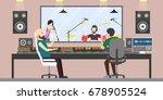 music recording studio. | Shutterstock .eps vector #678905524