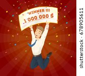 winning the lottery. | Shutterstock .eps vector #678905611
