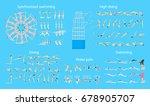 water sport set. | Shutterstock .eps vector #678905707