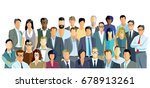 group of people on white... | Shutterstock . vector #678913261