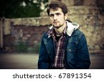 young man wearing jeans clothes ... | Shutterstock . vector #67891354