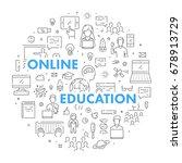 modern web line banner for... | Shutterstock . vector #678913729