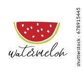 watermelon vector illustration. ... | Shutterstock .eps vector #678915445