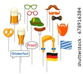 set of oktoberfest photo booth... | Shutterstock .eps vector #678916384