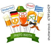 set of oktoberfest photo booth... | Shutterstock .eps vector #678916429