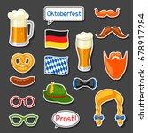 set of oktoberfest photo booth... | Shutterstock .eps vector #678917284
