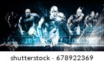 advanced technology as a it... | Shutterstock . vector #678922369
