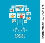 social network tree. chat talk... | Shutterstock .eps vector #678924175