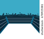 empty boxing ring. vector... | Shutterstock .eps vector #678925381