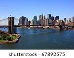 Brooklyn Bridge And Manhattan...