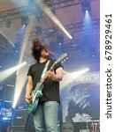 Small photo of KIEV, UKRAINE - JULY 02, 2017: Ukrainian stoner rock band Stoned Jesus and its frontman and guitarist Igor Sydorenko performs live at the Atlas Weekend Festival in National Expocenter.