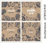 healthy food banner collection. ... | Shutterstock .eps vector #678931945