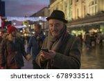 mature man is enjoying an... | Shutterstock . vector #678933511
