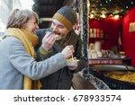mature couple are enjoying... | Shutterstock . vector #678933574