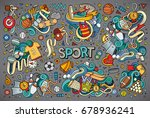 colorful vector hand drawn... | Shutterstock .eps vector #678936241