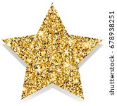 star with gold elements | Shutterstock . vector #678938251