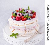 Pavlova With Berry Fruits