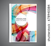 template book cover with... | Shutterstock .eps vector #678940384