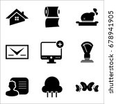 set of 9 mixed icons such as...   Shutterstock .eps vector #678941905