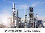industrial zone the equipment... | Shutterstock . vector #678943027