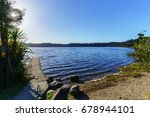 Small photo of Beautiful Lake Ianthe or Matahi is West Coast's forest-lined fresh blue water lakes , popular for camping , boating, swimming, and trout fishing , South Island of New Zealand