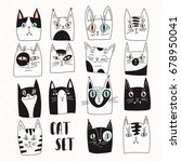 set of vector cats | Shutterstock .eps vector #678950041