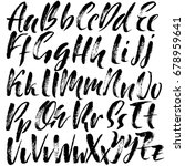 hand drawn dry brush font.... | Shutterstock .eps vector #678959641
