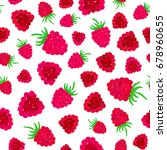 raspberry background. berry... | Shutterstock .eps vector #678960655