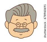portrait happy grandfather man...   Shutterstock .eps vector #678960691