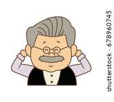 portrait happy grandfather man...   Shutterstock .eps vector #678960745