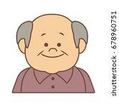 portrait happy grandfather man...   Shutterstock .eps vector #678960751