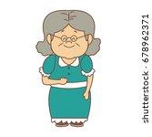 portrait of lovely grandmother... | Shutterstock .eps vector #678962371