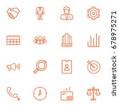 set of 16 business outline... | Shutterstock .eps vector #678975271