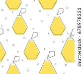flat line pear pattern vector | Shutterstock .eps vector #678978331